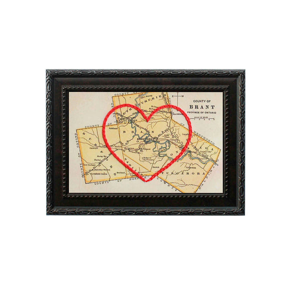 Brant County Heart Map