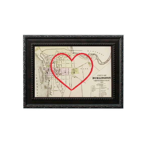 Burlington, Vermont Heart Map