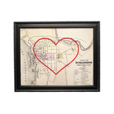 Burlington VT Heart Map - 8x10