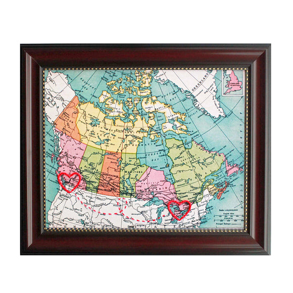 Connecting Hearts Canada Map