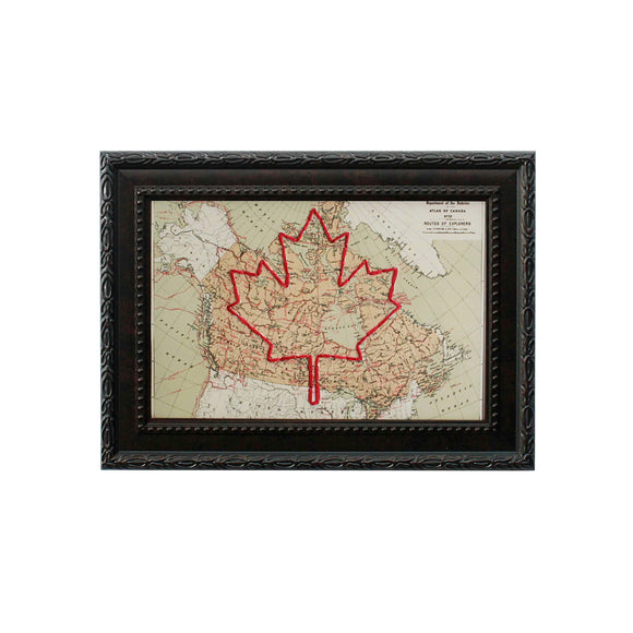 Maple Leaf Canada Map
