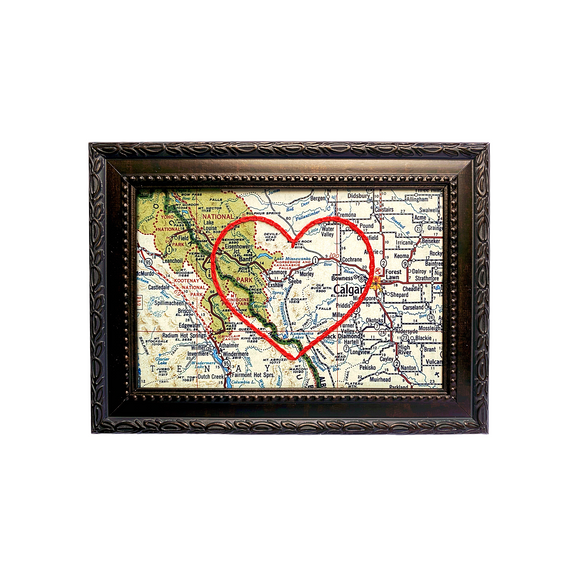 Canmore, AB Heart Map