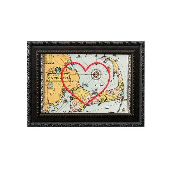 Cape Cod Heart Map
