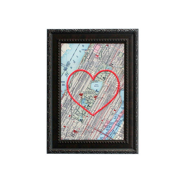Central Park NYC Heart Map