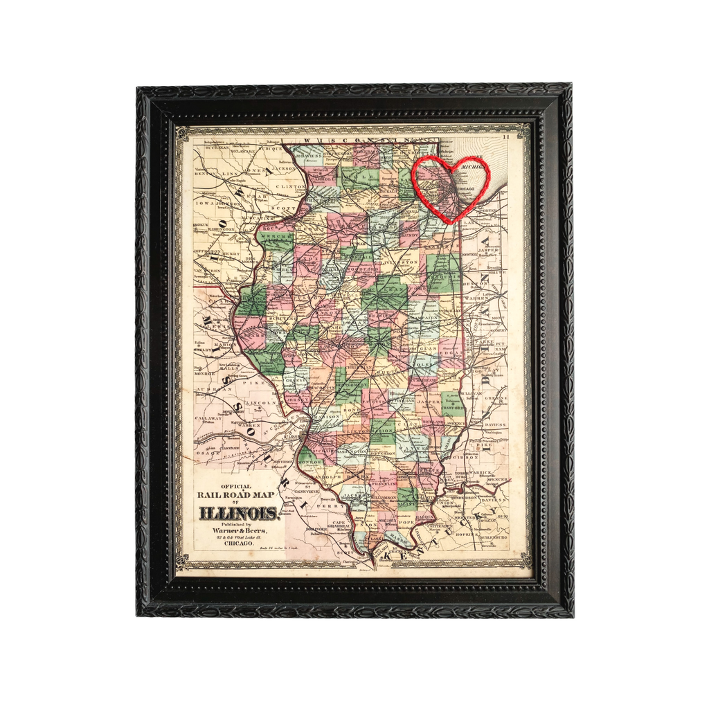 Chicago Mini Heart Map - 8x10