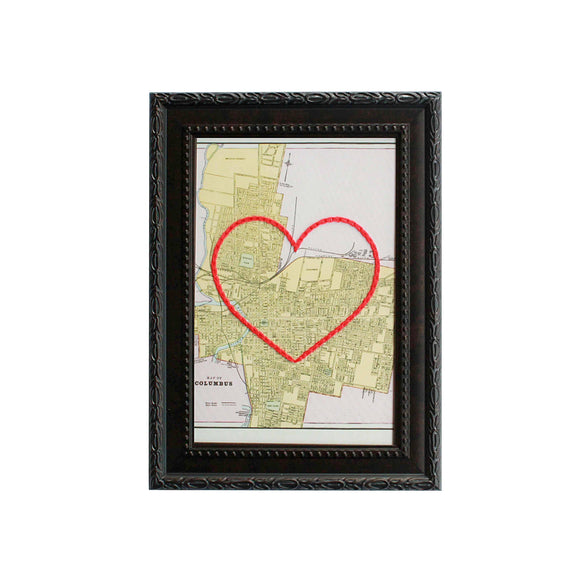 Columbus Heart Map