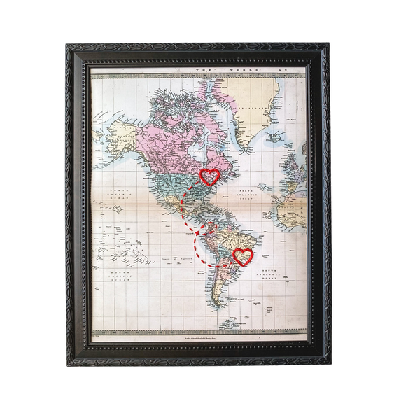 Connecting Hearts Americas Map