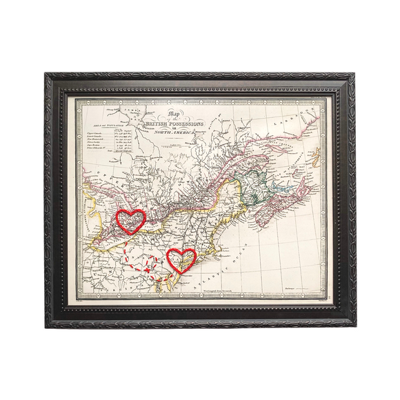Connecting Hearts Eastern Canada/USA Map