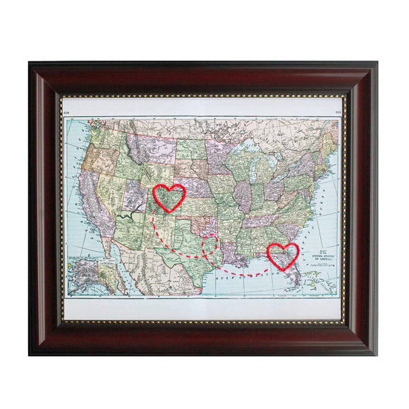 Connecting Hearts USA Map