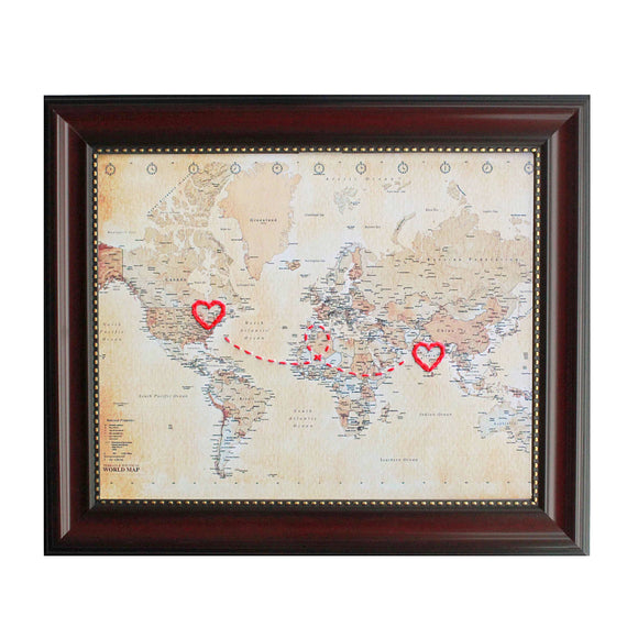Connecting Hearts World Map