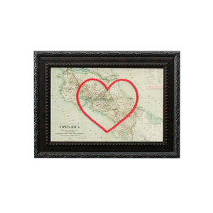 Costa Rica Heart Map