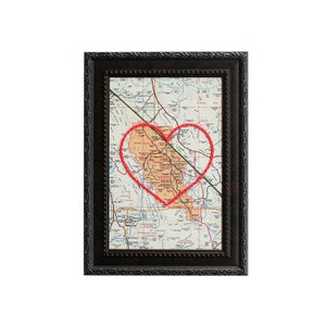 Death Valley Heart Map