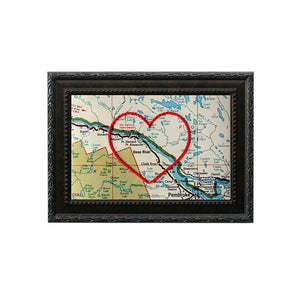 Deep River Heart Map