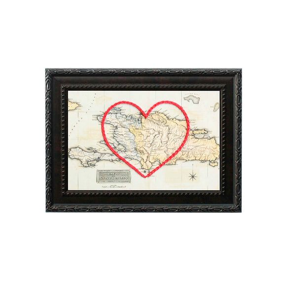 Dominican Republic Heart Map