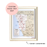 Custom Road Trip Map