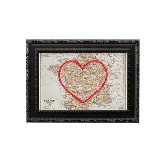 France Heart Map