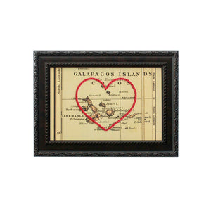 Galapagos Islands Heart Map