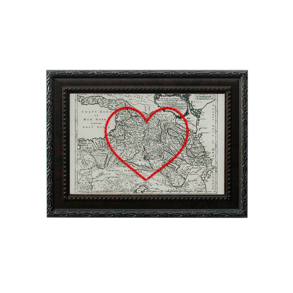 Georgia Heart Map
