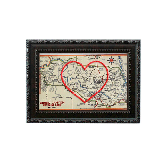 Grand Canyon Heart Map