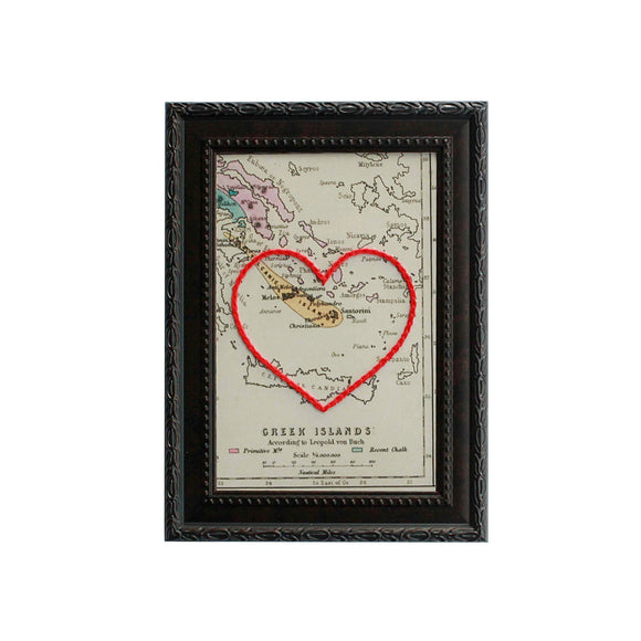 Greek Islands Heart Map