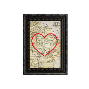 Grey County Heart Map