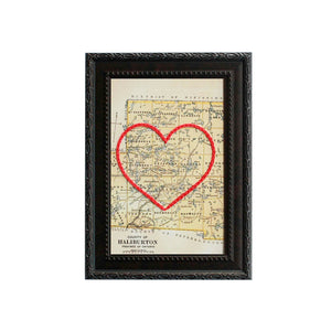 Haliburton County Heart Map