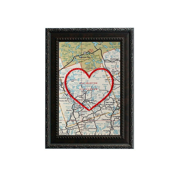 Haliburton Highlands Heart Map