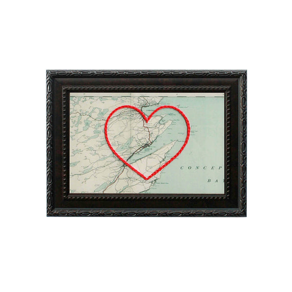 Harbour Grace Heart Map