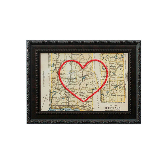 Hastings County Heart Map