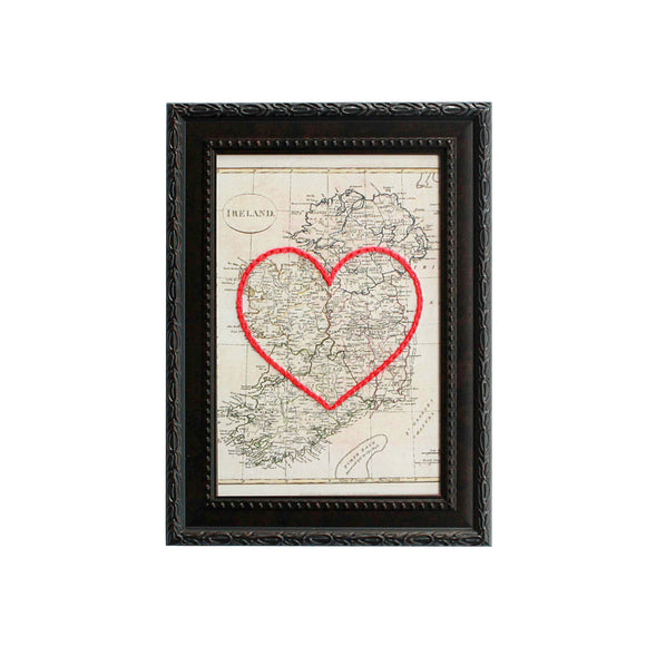 Ireland Heart Map