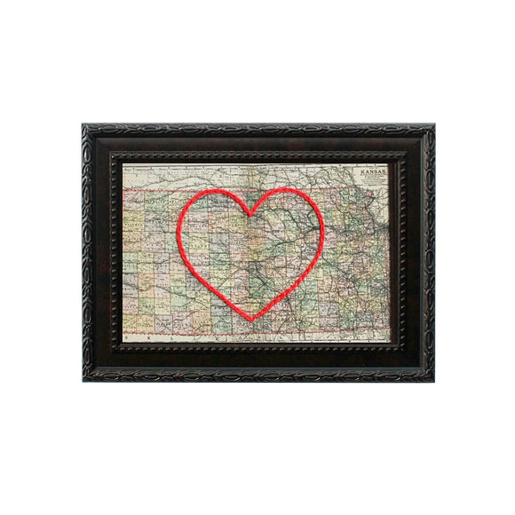 Kansas Heart Map