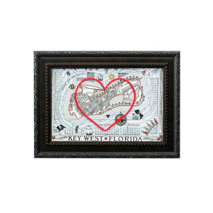 Key West Heart Map