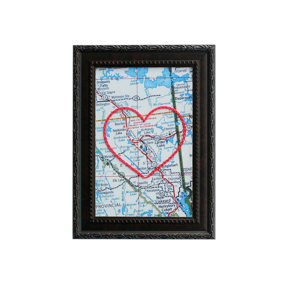 Kirkland Lake Heart Map