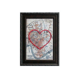 Krakow Heart Map