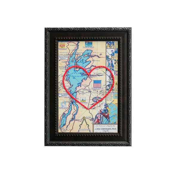 Lake Champlain Heart Map