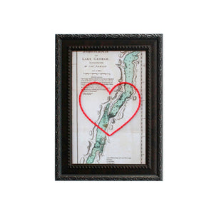 Lake George Heart Map