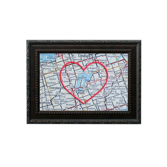 Lake Scugog Heart Map