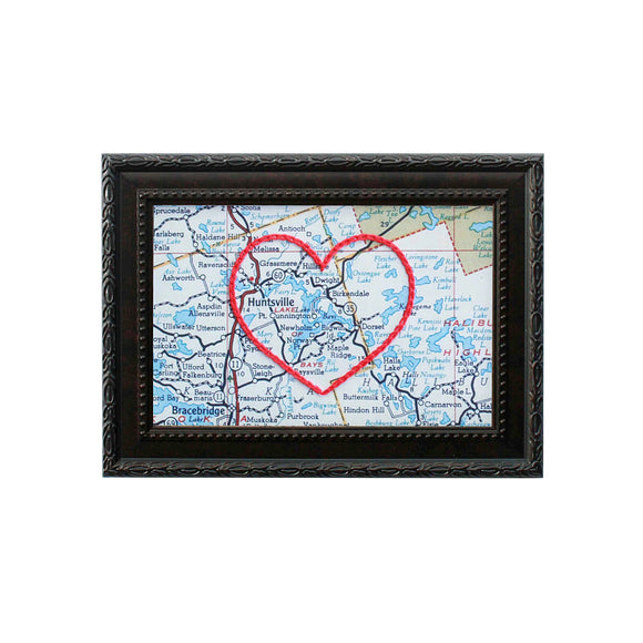 Lake of Bays Heart Map