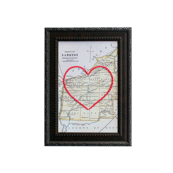Lambton County Heart Map