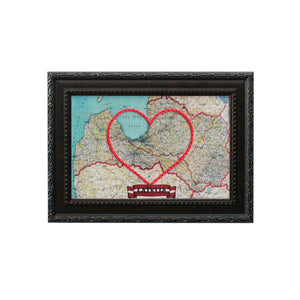 Latvia Heart Map