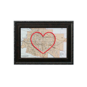 London, Ontario Heart Map