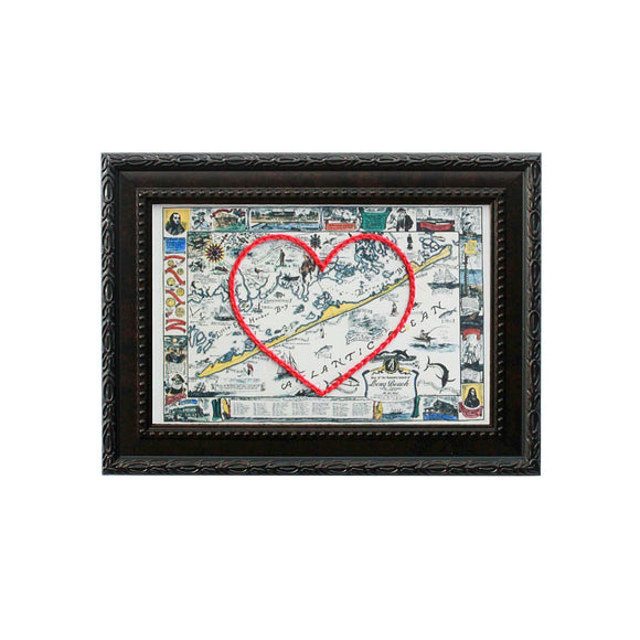 Long Beach Island Heart Map