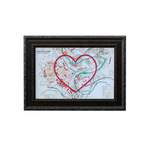 Luxembourg Heart Map