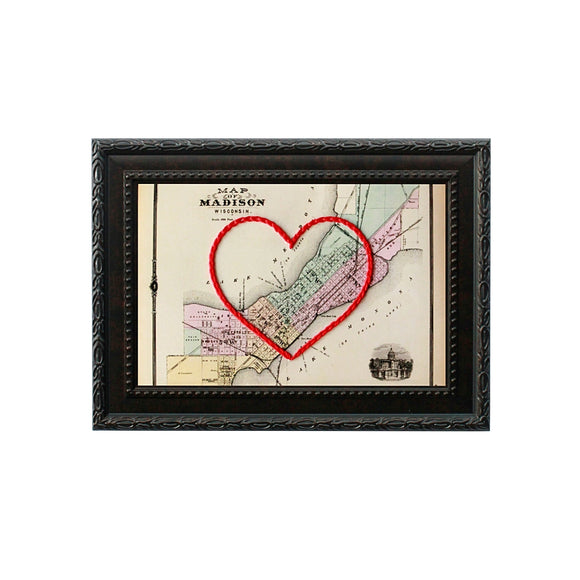 Madison, WI Heart Map