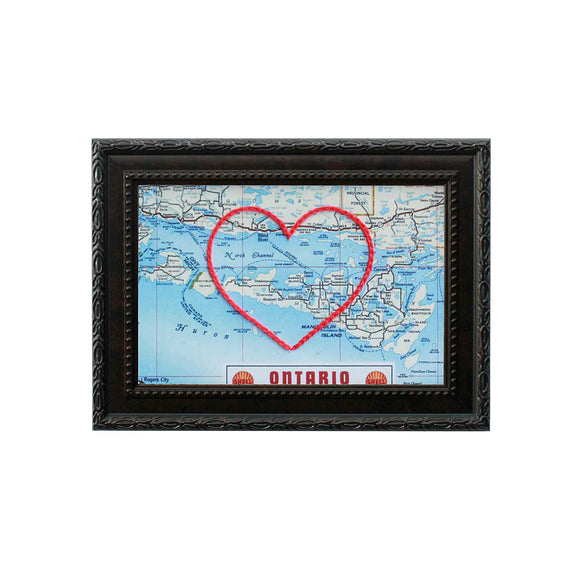 Manitoulin Island Heart Map
