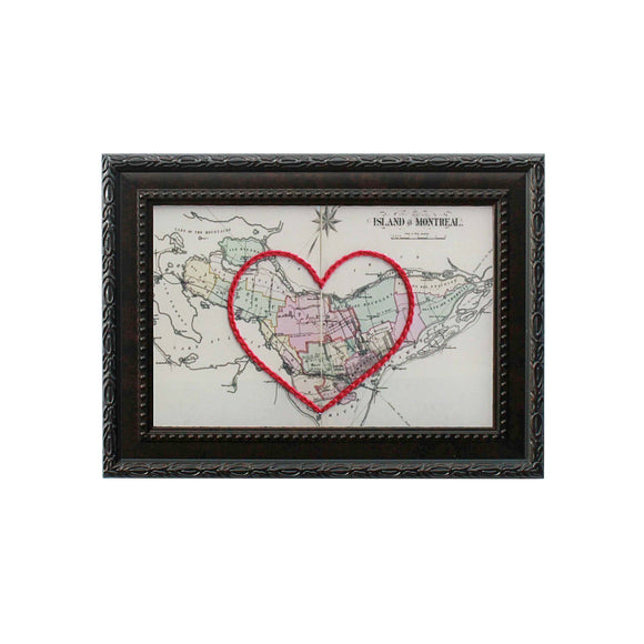 Island of Montreal Heart Map