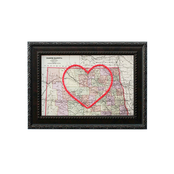 North Dakota Heart Map