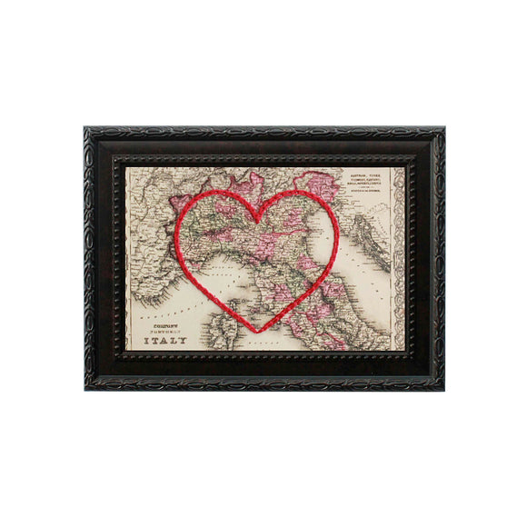 Northern Italy Heart Map