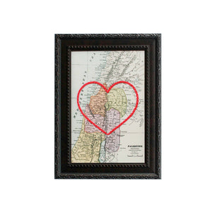 Palestine Heart Map