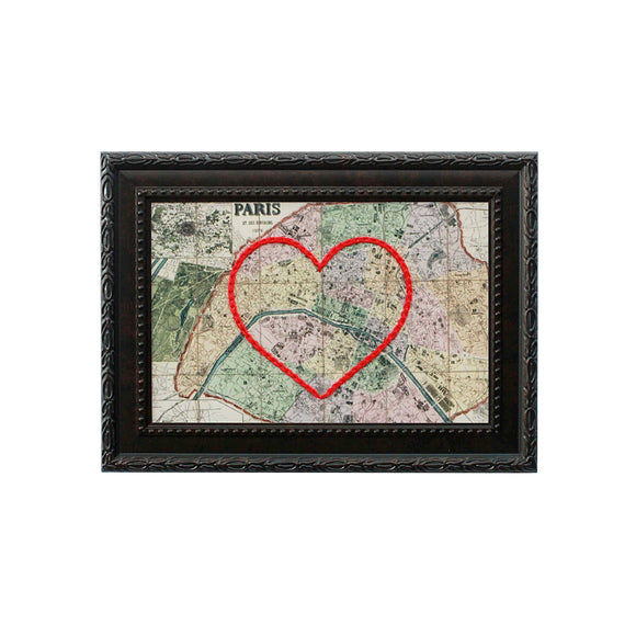 Paris Heart Map